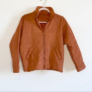 Faux suede sienna colored jacket in size small!